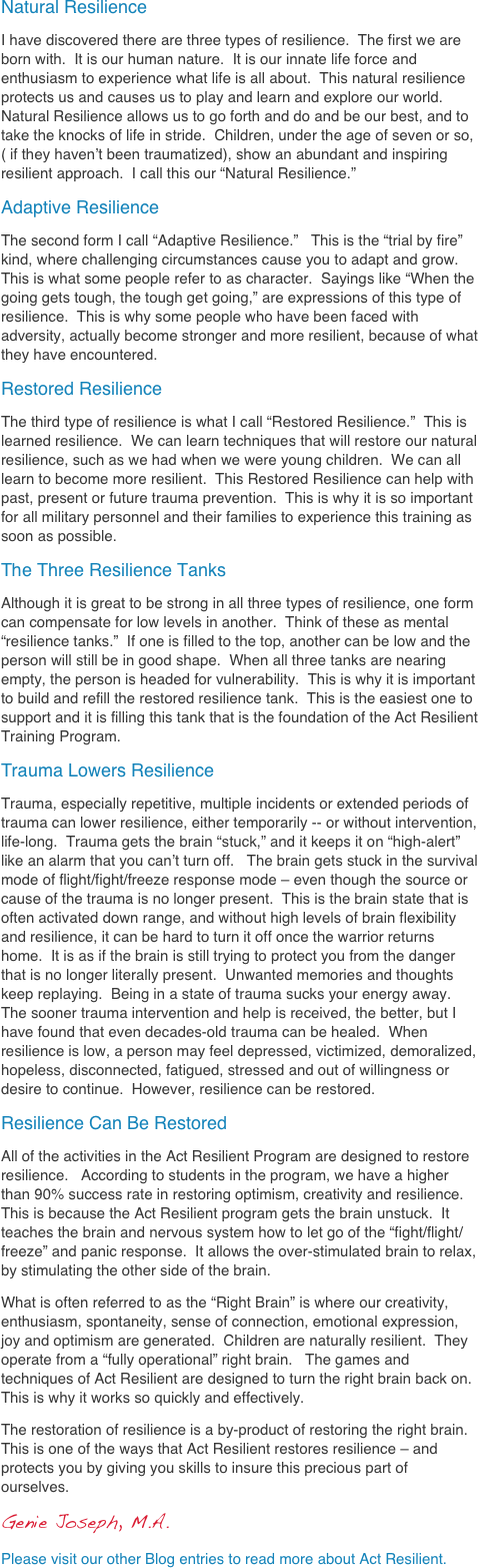 how people learn to become resilient pdf